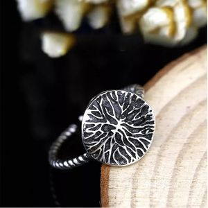 🆕|925 Silver Lotus| Adjustable Ring w/ Twist Band